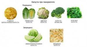 Употребление капусты при панкреатите