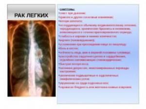Какие признаки при раке разных внутренних органов?